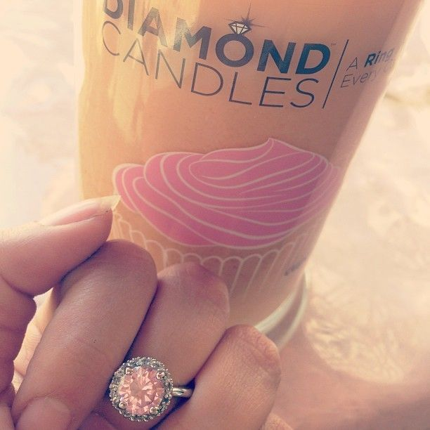 The diamond candle! look at that ring, it's gorgeous. And the scent is delicious, just like cupcakes baking...Diamond Candles