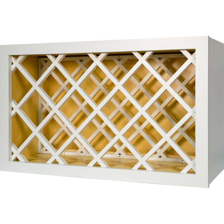 30 Inch Wine Rack Cabinet in Shaker White 30""