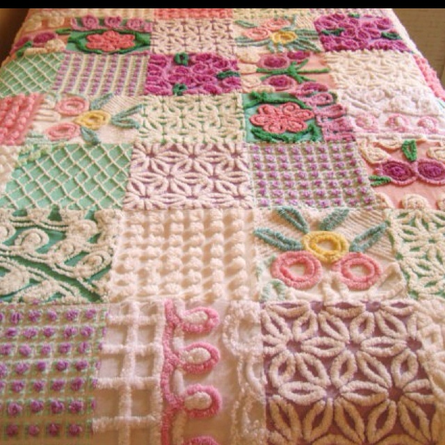 Gorgeous hand-made shabby chic quilt.