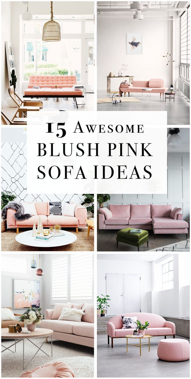 Blush Pink Sofas Add A Touch Of Color
