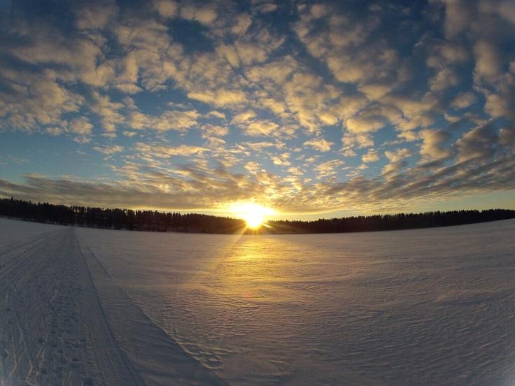 Frozen lake Saimaa, Lappeenranta