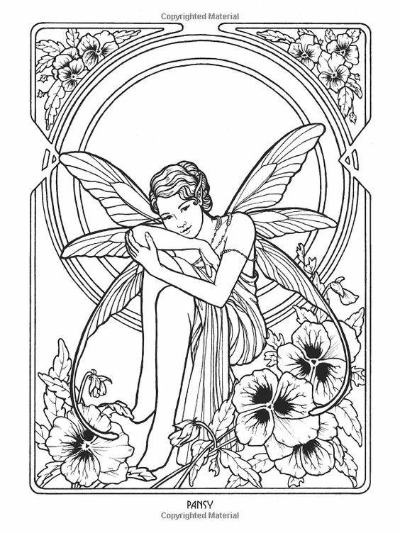 185 best printables fairies elves angels images on pinterest coloring for adults adult. Black Bedroom Furniture Sets. Home Design Ideas