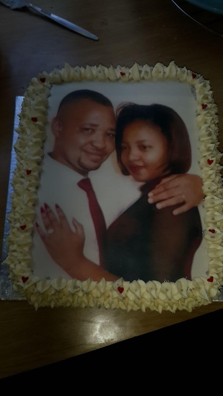 Wedding celebration cake for a pastor