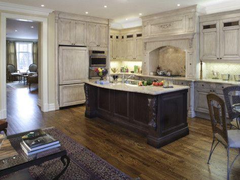 Kitchen With Pickled Oak Cabinets Kitchens Pinterest