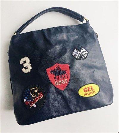 Bayan suni deri lacivert spor omuz çantası modelleri en ucuz fiyatlarıyla kapıda ödeme ve taksit ile Outlet Çarşım'da.