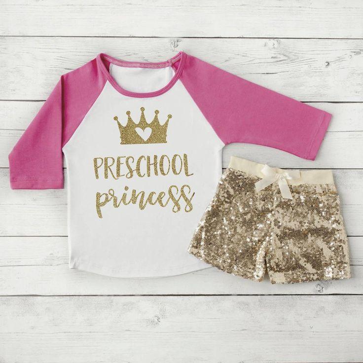 Preschool Shirt, First Day of School Shirt, Preschool Princess 1st Day of Preschool Photo Prop Back to School Clothes for Girls 301 #1st_day_of_preschool #1st_day_of_school #back_to_school