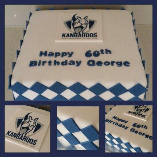 North Melbourne Football Cake