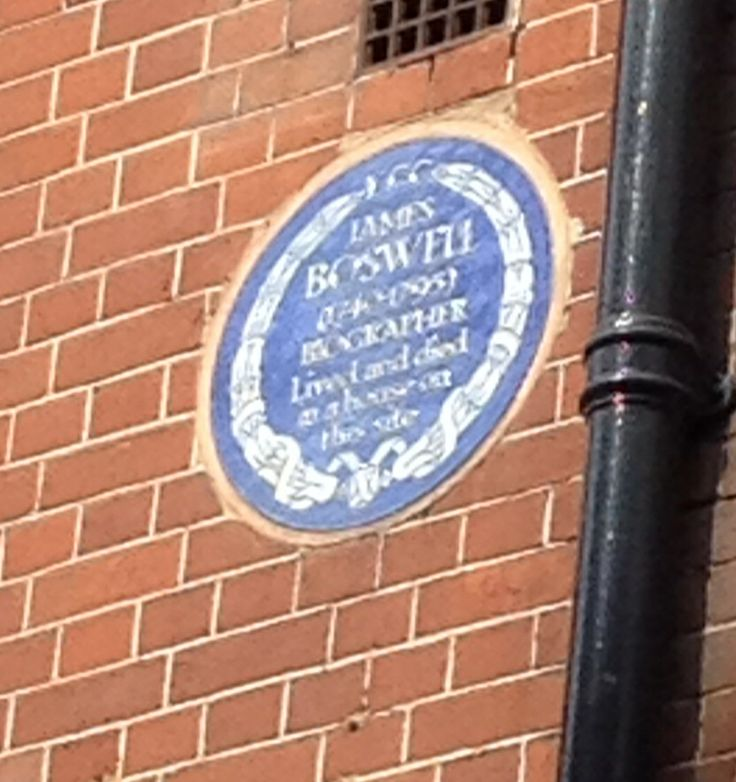 James Boswell, Great Portland Street, London, W1
