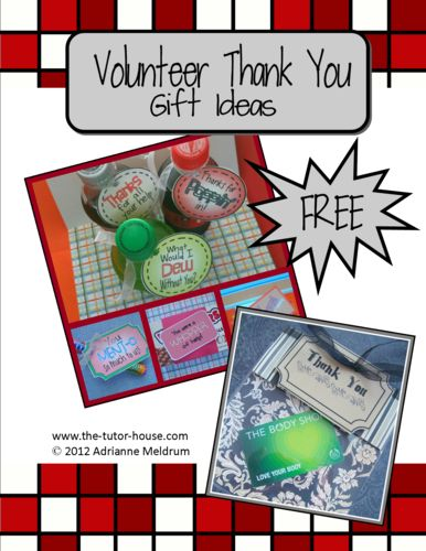 86 best volunteer appreciation ideas images on pinterest volunteer volunteer thank you gift ideas and tags the tutor house negle Choice Image