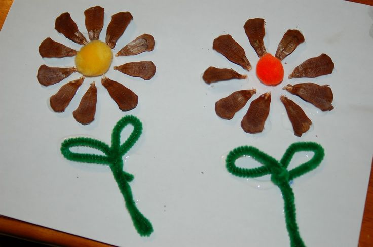 Pine cone flower craft for kids crafts flower and for kids for Pine cone crafts for children