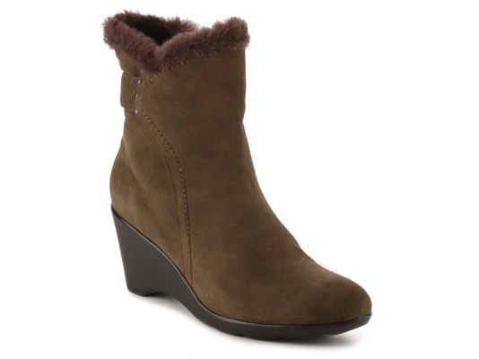 Women's Blondo Love Wedge Bootie - Olive