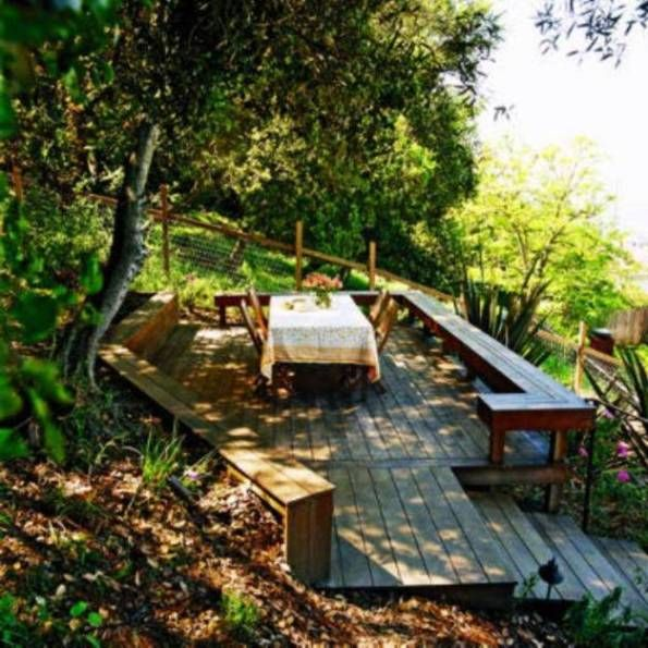 17 best images about backyard on pinterest hillside for Landscape ideas for hilly backyards