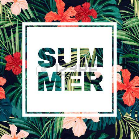 hawaiana: Colorido diseño de volante hawaiano verano con plantas tropicales y…