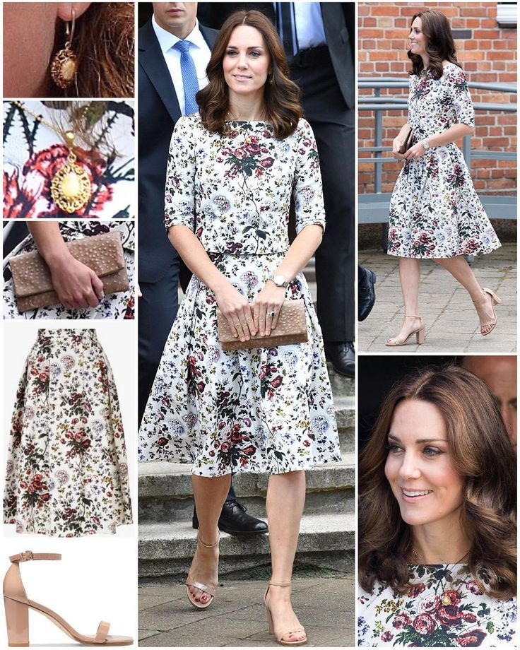 The Duchess wore a new ensemble from an old-favourite label as she and William visited Gdansk today. Kate opted for Erdem for today's series engagements.