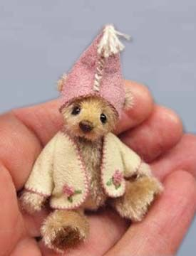 Miniature bears and friends, designed and made by Ingrid Els