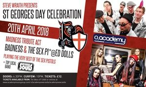 Groupon - St Georges Day Celebration - Badness and The Sex Pissed Dolls, 20 April, O2 Academy Newcastle (Up to 40% Off) in O2 Academy Newcastele. Groupon deal price: £8.45