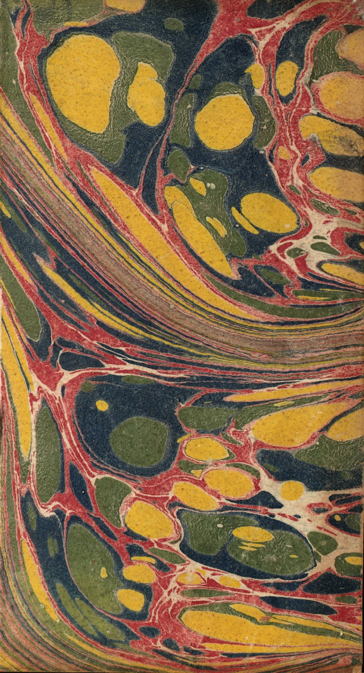Vintage 18th c. marbled paper, Spot Combed pattern. via University of Washington