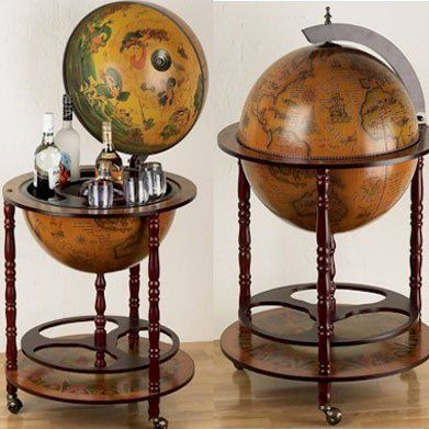 Eucalyptus Bar Globe Drinks Cabinet: Amazon.co.uk: Kitchen & Home