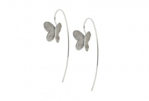 Buy a Dorit Butterflies Silver Long Earrings at Charles Fish