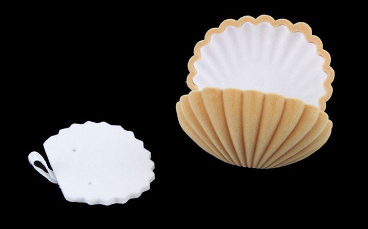 Новинка элегантный морские раковины форма флокирование кольцо коробки кулон медальон серьги ювелирные изделия чехол флип купить на AliExpress