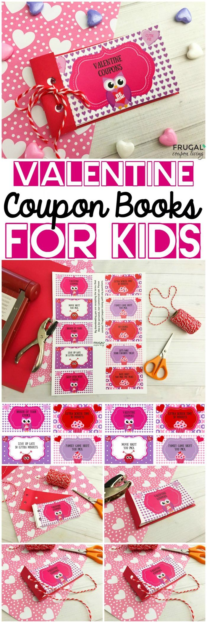 Kid And Teen Valentine Coupon Books