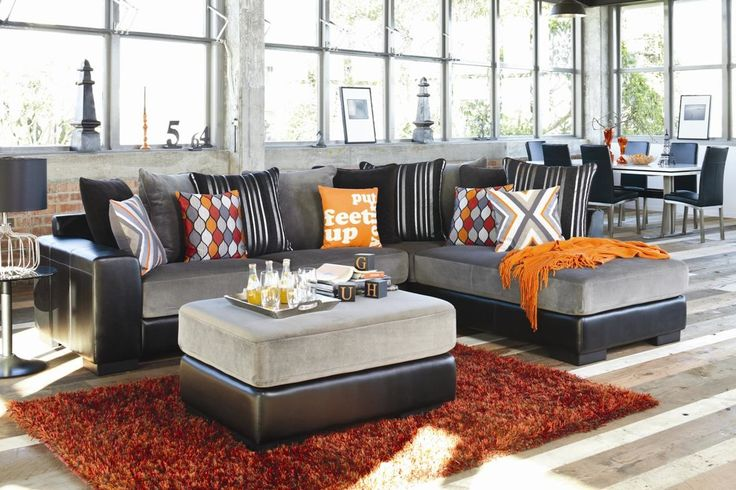 Boston 3 Seater Fabric Sofa with Chaise. Harvey Norman