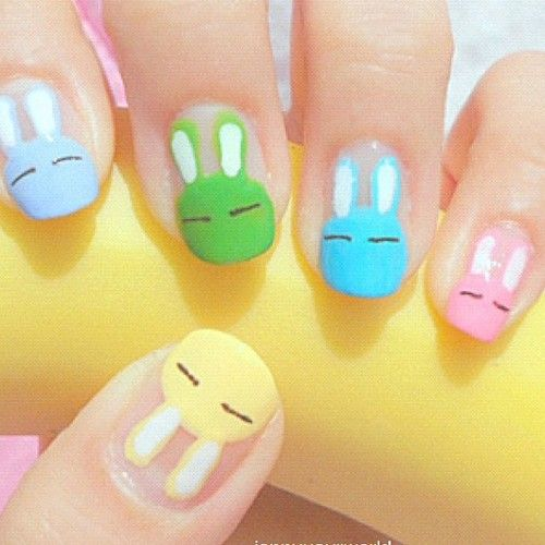 Bunnies♥ Easter Nail Ideas!  YES!