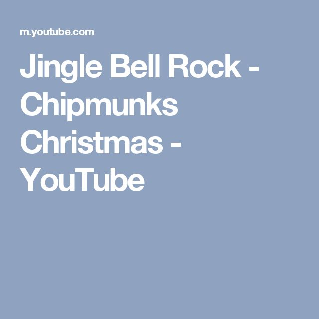 Jingle Bell Rock - Chipmunks Christmas - YouTube
