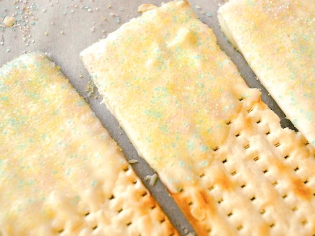 White Chocolate Dipped Matzo Recipe for Passover (or Easter!)