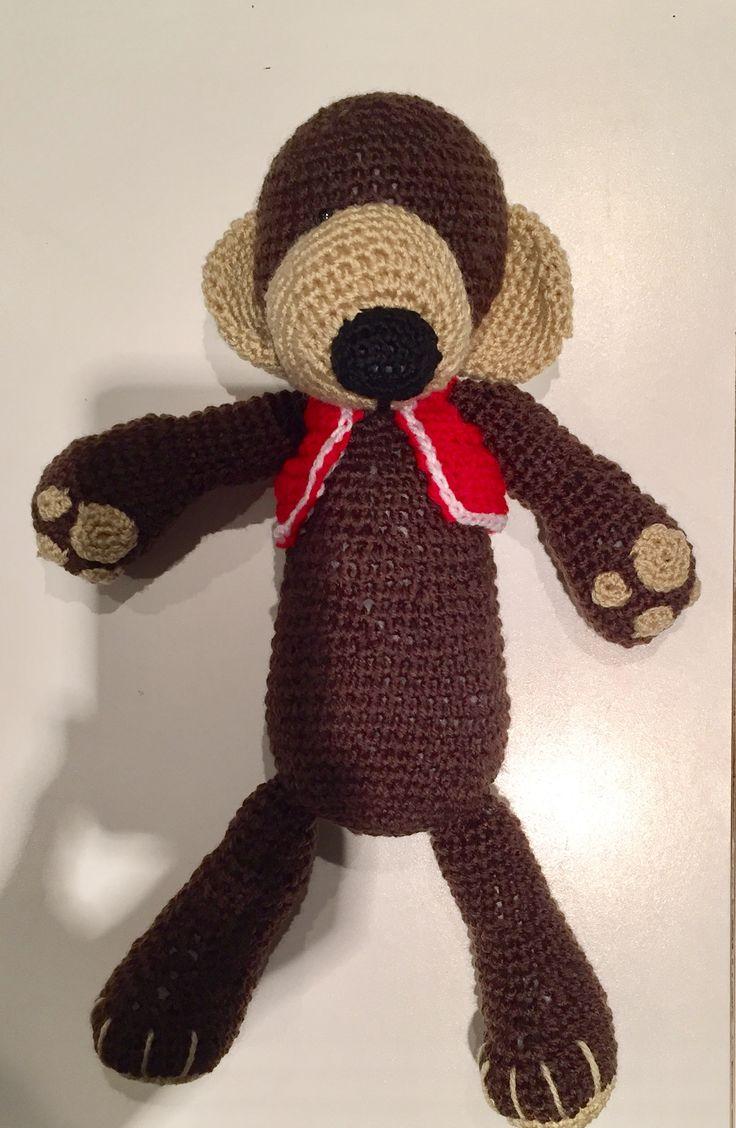 Crochet amigurumi teddy