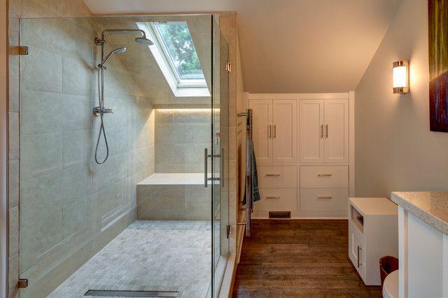 Irvington Master Suite Transitional Bathroom Attic