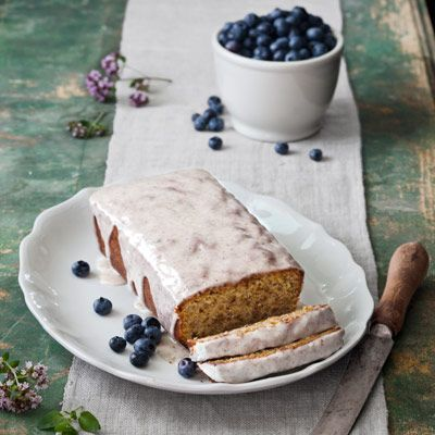 pistachio-cardamom pound cake with lemon icing, as seen in the July ...
