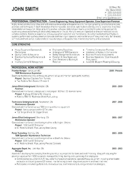 71 Best Of Photos Of Resume Summary Examples For Construction