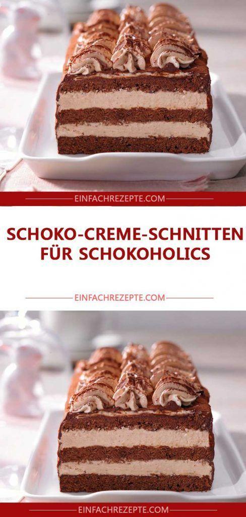 Schoko-Creme-Schnitten für Schokoholics 😍 😍 😍