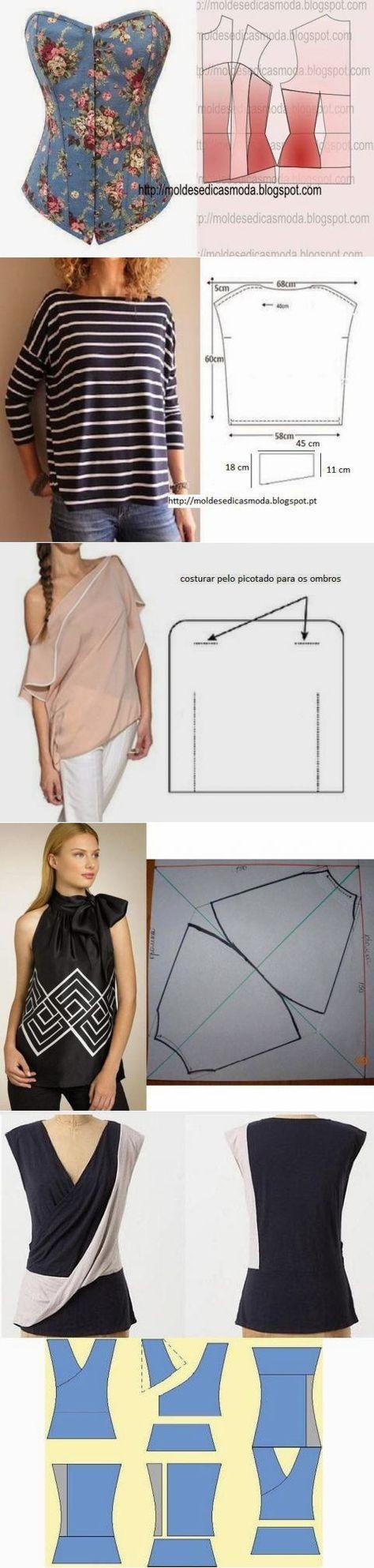 Летние юбки и блузы с простыми выкройками...<3 Deniz <3