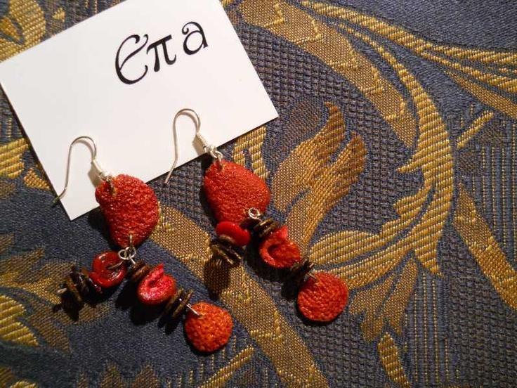 orecchini di bucce d'arancia