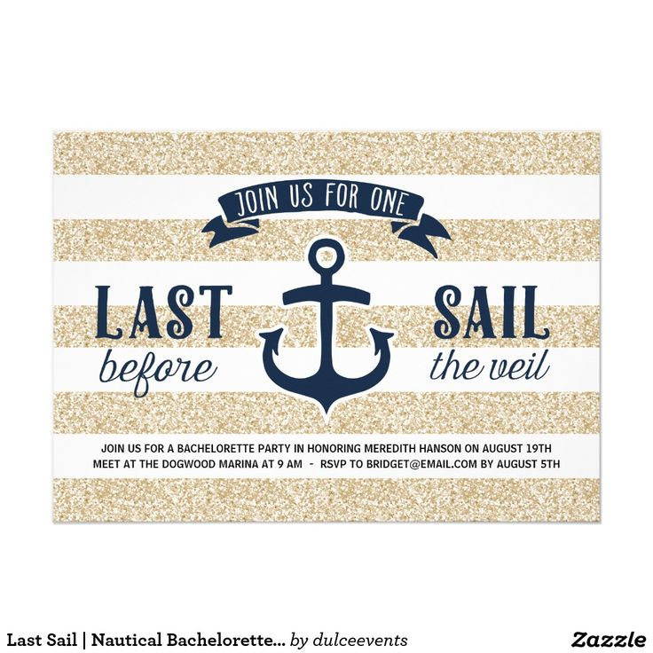 Last Sail | Nautical Bachelorette Party