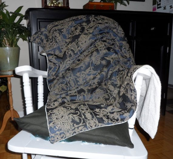 Blanket throw afghan brocade chenille by PattisPlaceinOntario