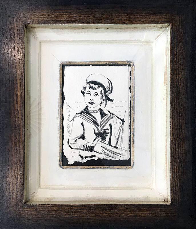David Bromley - Sailor Boy - Gouache - Pencil Portrait