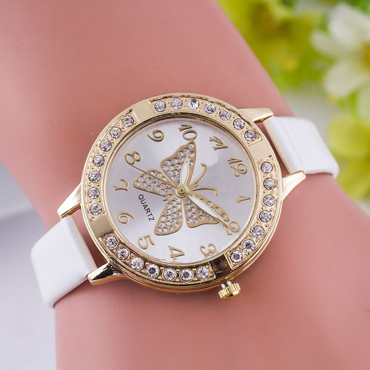 Cheap butterflies house, Buy Quality butterfly watch directly from China watch royal Suppliers: 2016 Fashion Leathe Women Watch Digital Quartz Clock Casual Watches Butterfly Rhinestone Wristwatch relogio feminino