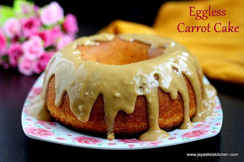 6-INCH EGGLESS CARROT BUNDT CAKE WITH HOT TOFFEE SAUCE