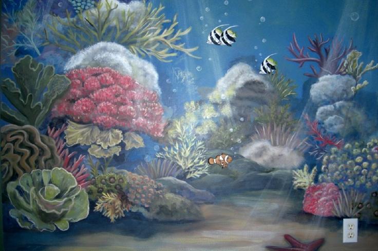 under the sea bedroom mural ideas pinterest