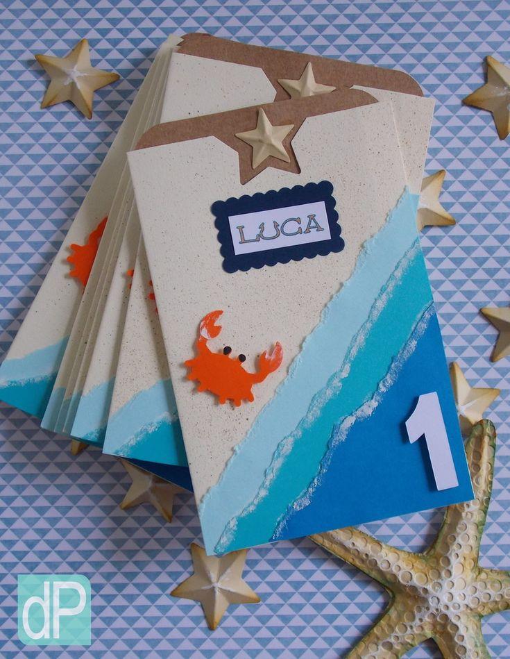 Convite temático para festa infantil tema oceano, mar, fundo do mar