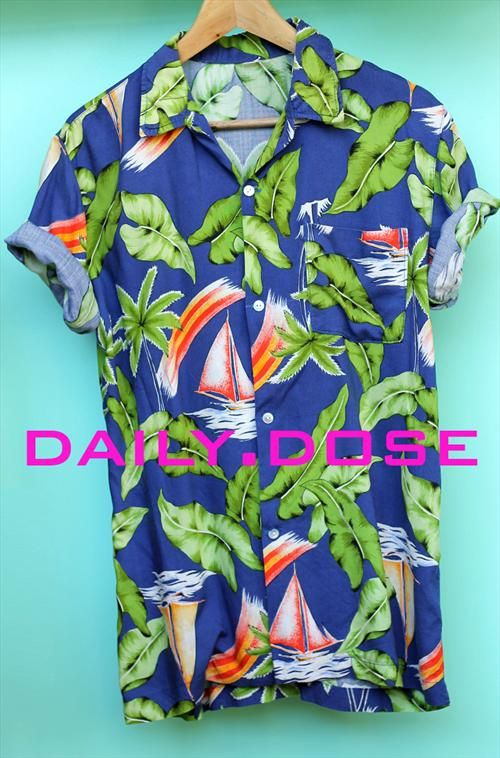 Daily Dose <3 15.07.14 Menswear Cobalt Blue Hawiian Shirt coming this week to our @asosmarketplace boutique #menswear #prints #hawiian