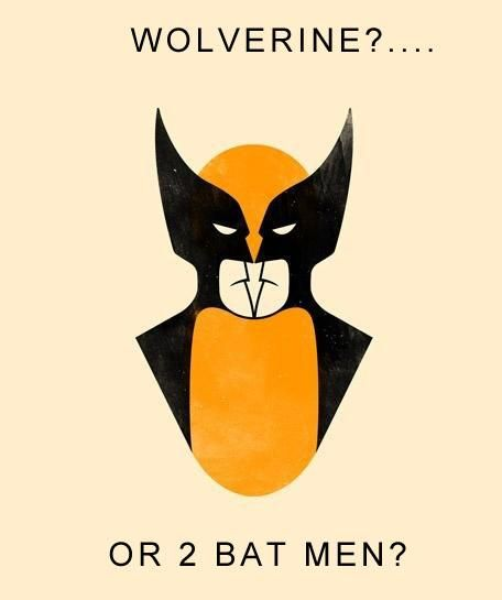 Wolverine?  Or 2 bat men?... i saw Wolverine! Marvel for life! Dont grt me wrong I love batman but Marvel's better.
