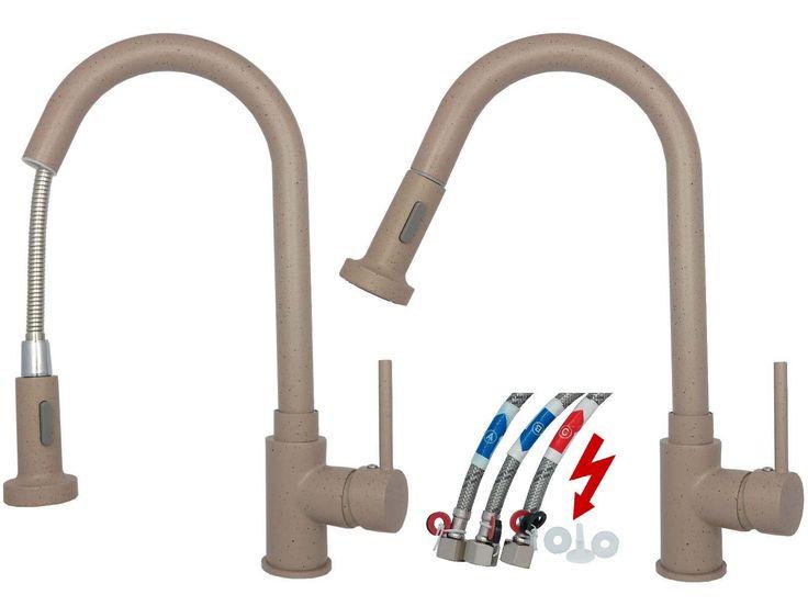 Niederdruck Spültisch Küchenarmatur Waschbecken Armatur in Granit Beige  Beschreibung: Niederdruck Armaturen w    erden benötigt, wenn Sie einen Warmwasserspeicher  bzw. einen Boiler betreiben möchten....
