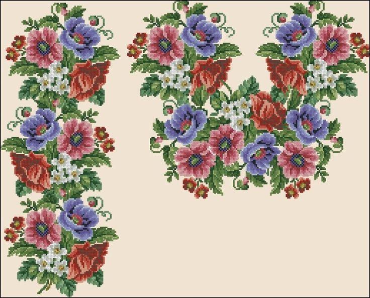 Gallery.ru / Фото #174 - схемы для вышиванок - zhivushaya
