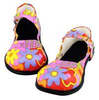 Pink Flower Clown Shoes - Clown Costume Accessories