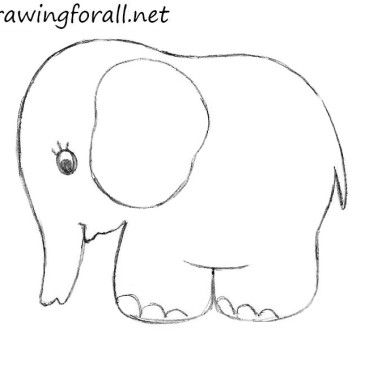 How To Draw An Elephant For Kids Pam To Paint Baby Drawing