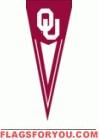 "Oklahoma Sooners Yard Pennant 34"" x 14"""